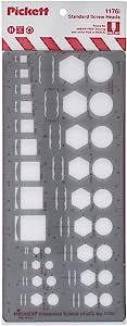 Pickett 等轴测六角螺母和头模板 1 Standard Screw Heads