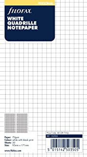 filofax 斐来仕 132905 White Quadrille Notepaper personal A6 方格页 网格页 笔记本内页 活页替芯 内芯