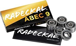 RADECKAL 黑色 ABEC 9 滑板轴承,滑板,长板,巡洋舰,直排轮滑板,预润滑,高精度额定,持久