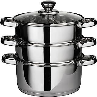 Premier Housewares 蒸锅,不锈钢,玻璃盖