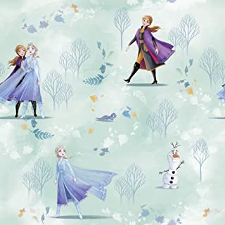 Komar 迪士尼无纺布壁纸 - 冰雪奇缘 新鲜 - 1卷 - 尺寸:10.05 x 0.53 米 - 儿童房,冰雪女王,安娜,艾莎,公主