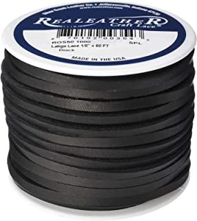 Realeather Crats 皮革 Latigo 蕾丝线轴-黑色