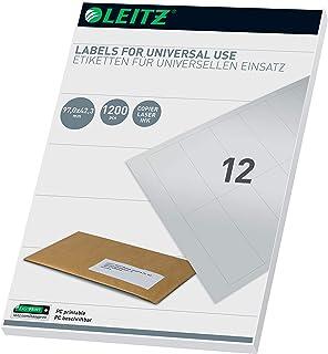 Leitz 61770001 通用型 PC Labels 97 x 42.3 mm 白色 有线接口/性别适配器