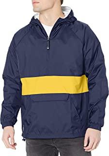 Charles River Apparel 防风防水套头防雨夹克(常规/加长尺码) *蓝/金色 X-Small