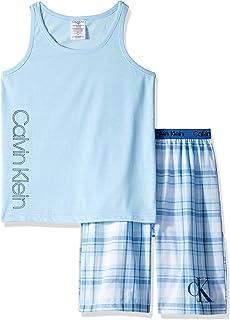 Calvin Klein 男孩 2 件套睡衣上衣和下装睡衣套装