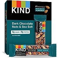 KIND 巧克力棒 黑巧克力堅果&海鹽 不含谷蛋白 1.4盎司 12支裝