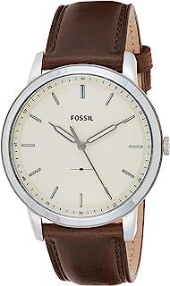 Fossil The Minimalist 三手棕色皮革手表