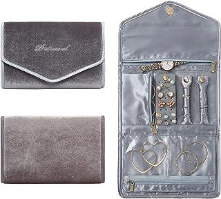 VanFn P.Travel 系列珠宝卷,旅行首饰收纳卷,女式珠宝收纳袋,用于旅行戒指,项链,耳环,手镯,手表,胸针