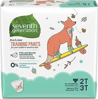 Seventh Generation Free & Clear 便盆训练裤,尺码 2T/3T(M),不重于35 磅(约15.87千克),25 件,4 包装