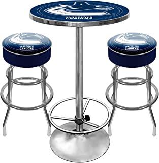 NHL Vancouver Canucks Ultimate Gameroom Combo - 2 把酒吧凳和酒吧桌