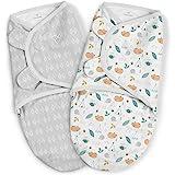 SwaddleMe Original 婴儿襁褓 – S 码,适合 0-3 个月的宝宝,2 件装(睡森林绿)
