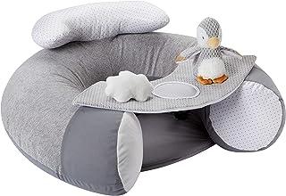 Nuby Penguin Sit-Me-Up 婴儿座椅。充气坐和玩耍地板座椅,带托盘和婴儿玩具。