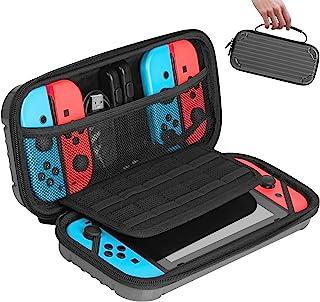 Nintendo Switch 便携包,TopMade [防震] 硬壳保护旅行包,带 10 个游戏卡插槽,豪华保护旅行携带保护套适用于 Nintendo Switch 控制台和配件
