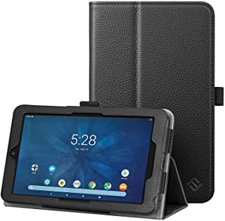 Fintie Case for Onn 7 inch Tablet, Slim Fit Premium Vegan Leather Folio Protective Stand Cover with Pencil Holder 对开式 多种颜色