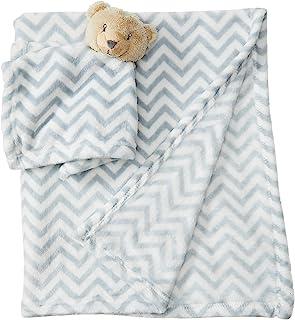 Hudson Baby Plush Blanket and Animal Security Blanket Set Gray Bear