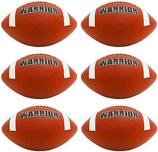 橡胶足球官方尺寸套装 ~ 6 个橡胶足球,适合室内室外使用 | 官方足球尺寸适合儿童、成人等