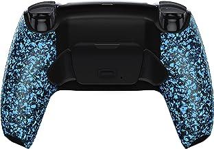 eXtremeRate 纹理蓝色可编程升降重新映射套件适用于 PS5 控制器、*板和重新设计的后壳和后按钮附件,适用于 DualSense 控制器 - 不包括控制器