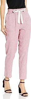 Vince Camuto 女式修身拉绳条纹裤