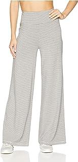 Calvin Klein 女士迷你条纹高腰阔腿裤