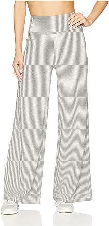 Calvin Klein 女士迷你条纹高腰阔腿套裤