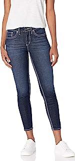 Silver Jeans Co. 女式 Suki 曲线修身中腰紧身牛仔裤
