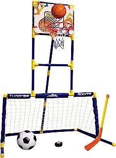 3 合 1 街机游戏 – 篮球、曲棍球、足球、运动站 – 儿童玩具 – 玩具运动,适合幼儿和儿童,1 – 12