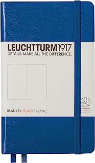 LEUCHTTURM1917 灯塔口袋型无格笔记本宝蓝色硬封皮(A6)