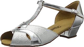 Diamant 女童 Mädchen Tanzschuhe 031-030-045 闭趾高跟鞋,银色/Silber Brokat