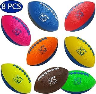 Macro Giant 6 英寸泡沫足球 / 5 英寸泡沫螺旋足球,8 件套,各种颜色,儿童球,训练练习,操场,学前,父母活动,玩具礼品,商务用品