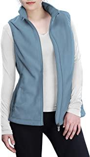 Outdoor Ventures 女式摇粒绒拉链背心外套,带口袋,保暖无袖外套,适合秋冬