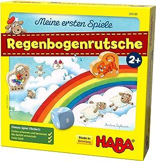 HABA 304188 Meine ersten Spiele 彩虹滑梯 合作游戏 适合2岁以上儿童 促进颜色和数字认知