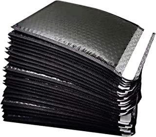 Luckkyme 25 个装垫泡沫袋,泡泡信封泡泡内衬涤纶邮寄袋,黑色