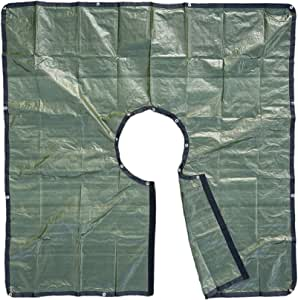 8x8 景观修剪防水布,带 24 英寸(约 60.9 x 20.3 厘米)孔,用于固定树和灌木