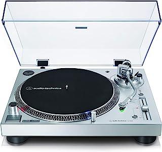Audio-Technica 铁三角 AT-LP120X 直驱唱片机(模拟/USB),银色