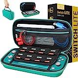 Nintendo Switch Lite 手提箱 - 便携式旅行手提箱带存储适用于 Switch Lite 游戏和配件