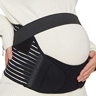 NEOtech Care 乐欧德 NTC-T007孕妇产前托腹带孕妇带骨盆矫正带盆骨带-Maternity Belt,Pregnancy Support,Waist / Back / Abdomen Band 美亚同款 透气三件式 黑色 小码
