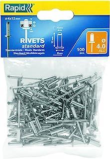 Rapid 空心铆钉,标准型,100个,包含 钻孔器 Silbern / Klar/ Blau ø4 mm 5000379