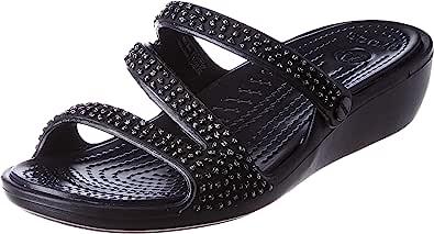 crocs 卡骆驰 Patricia 钻石坡跟女鞋