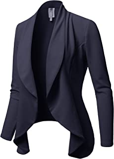 Awesome21 女式外套纯色正式办公室风前开式外套 - 美国制造
