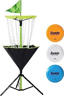 Franklin Sports 飞盘高尔夫靶 - 便携 - 坚固的金属链 - 含手提袋