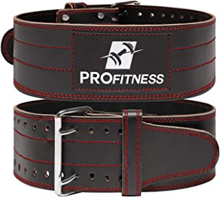 profitness 真皮健身腰带(5.08cm 宽)–proper 举重表格–下背和腰部支撑适用于 crossfit Exercises , powerlifting workouts , deadlifts