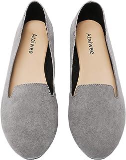 Ataiwee 女士芭蕾平底鞋 - 简约休闲舒适圆头一脚蹬休闲鞋。