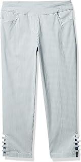 SLIM-SATION 女式条纹七分裤