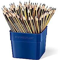 Staedtler 施德楼 Noris 铅笔, 高抗断性,符合人体工程学的三角形设计,防滑柔软表面,Wopex 材质,硬…