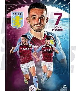 Be The Star Posters 阿斯顿别墅FC 2020/21 John McGinn A2 足球海报/印刷/墙艺术 - 官方*产品 - 提供 A3 和 A2 (A2),紫红色