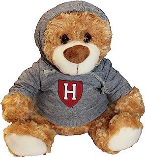 哈佛大学红泰迪熊灰色连帽运动衫 22.86 厘米高,棕色