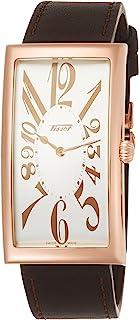 [天梭] TISSOT 腕表 传统 香蕉 世代 石英 银色表盘 棕色皮革 T1175093603200 男士