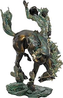 Design Toscano QL13925 野外野马紧身胸衣雕塑,Verdigris