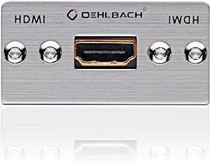 Oehlbach MMT-19 HS HDMI 多媒体插头适用于 19-Pin 多线缆银色