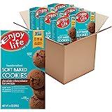 Enjoy Life 软烤曲奇,不含大豆、坚果、麸质、乳制品,纯素,浓郁巧克力布朗尼,6 盒